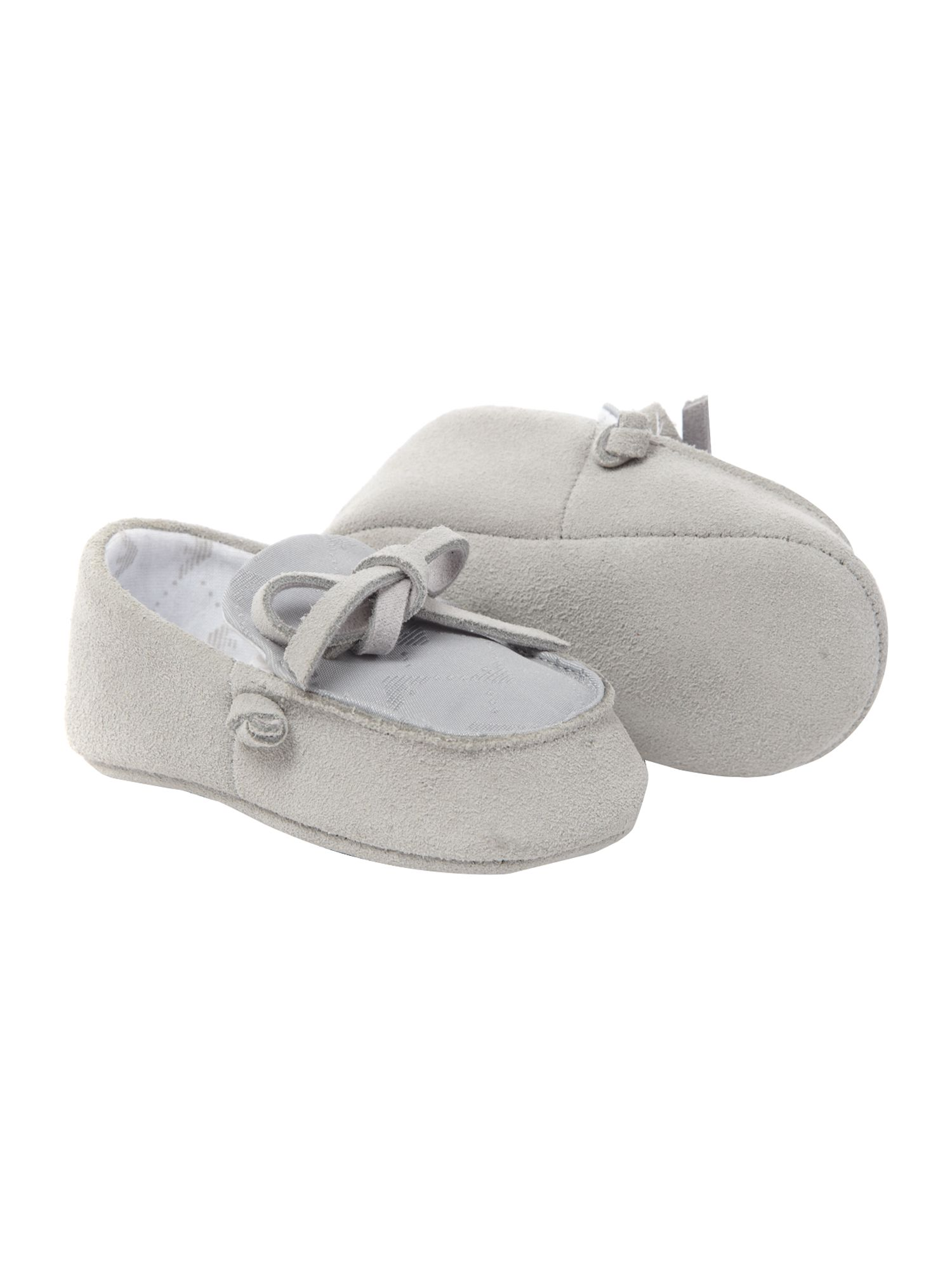 Baby boy`s suede loafers