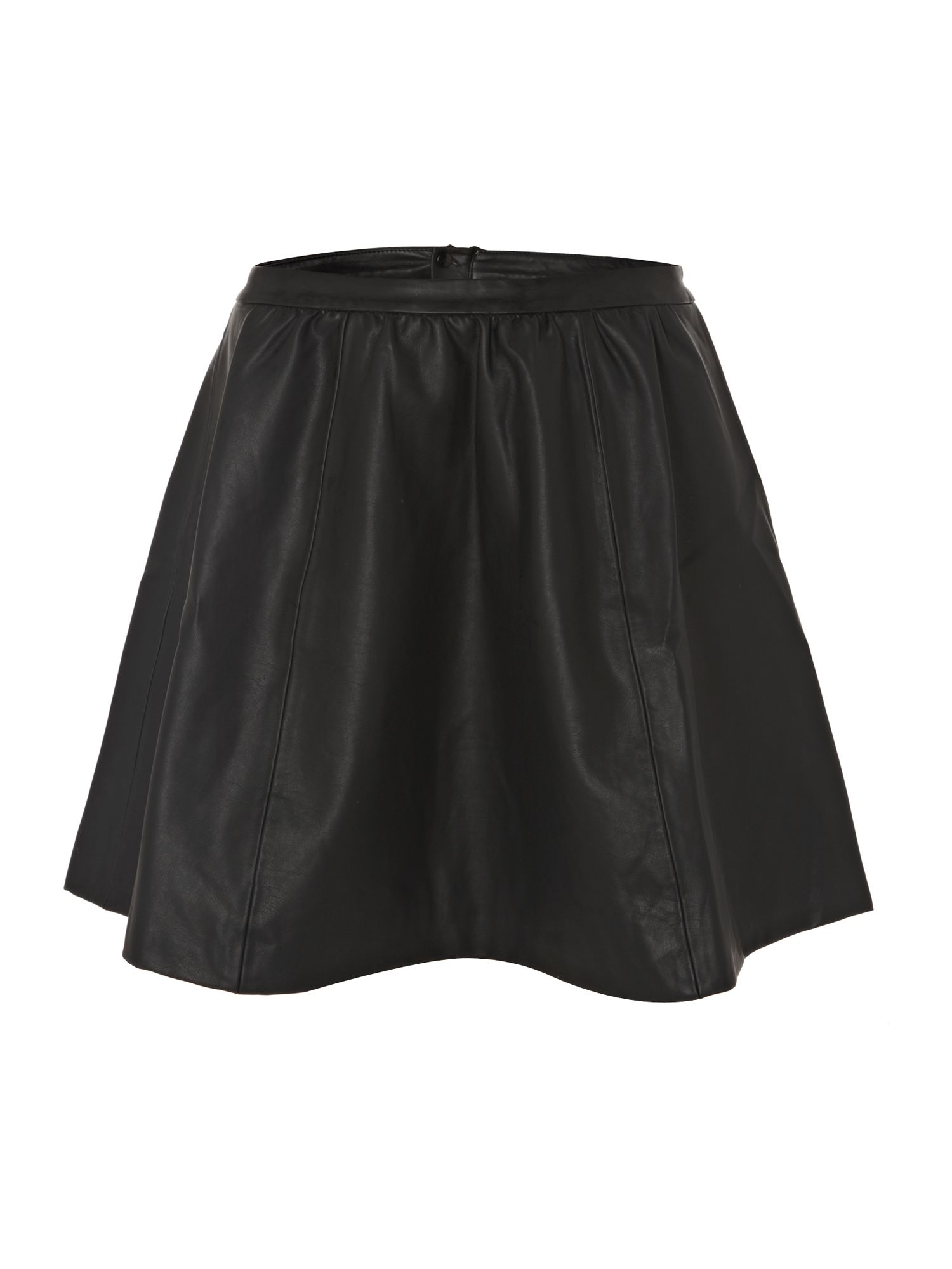 PU fit and flare skirt