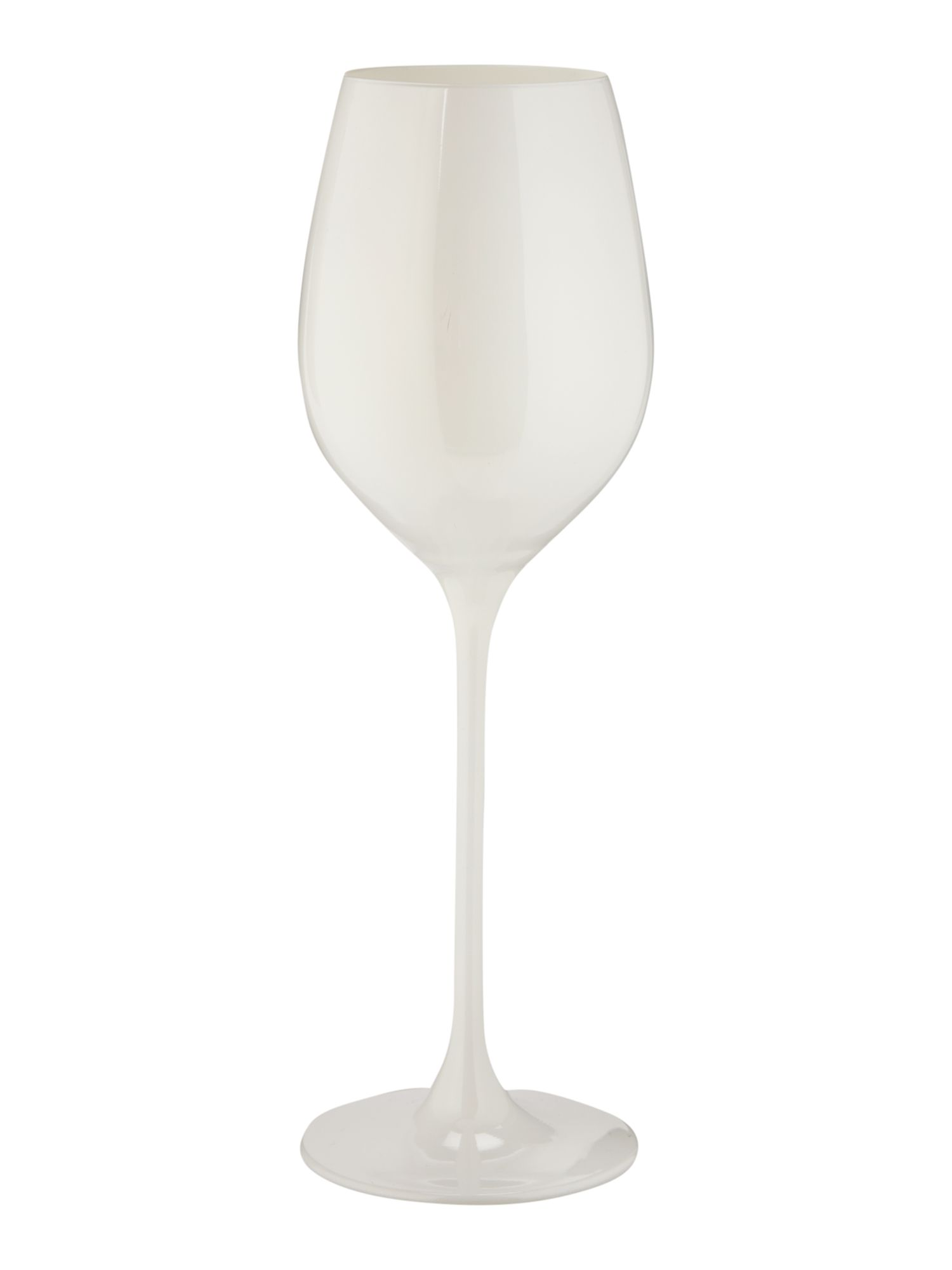Ghost white wine glass