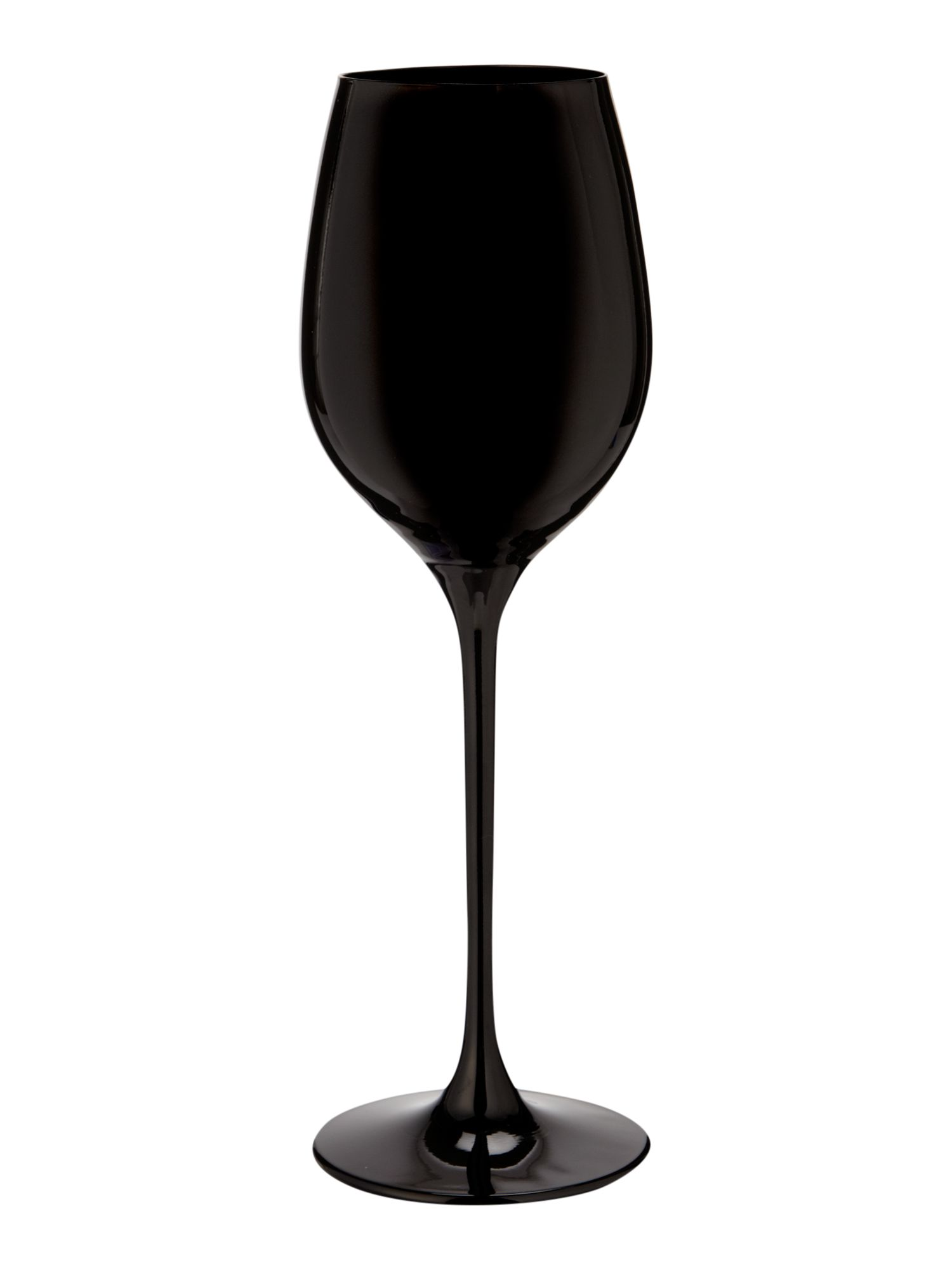Ghost black wine glass