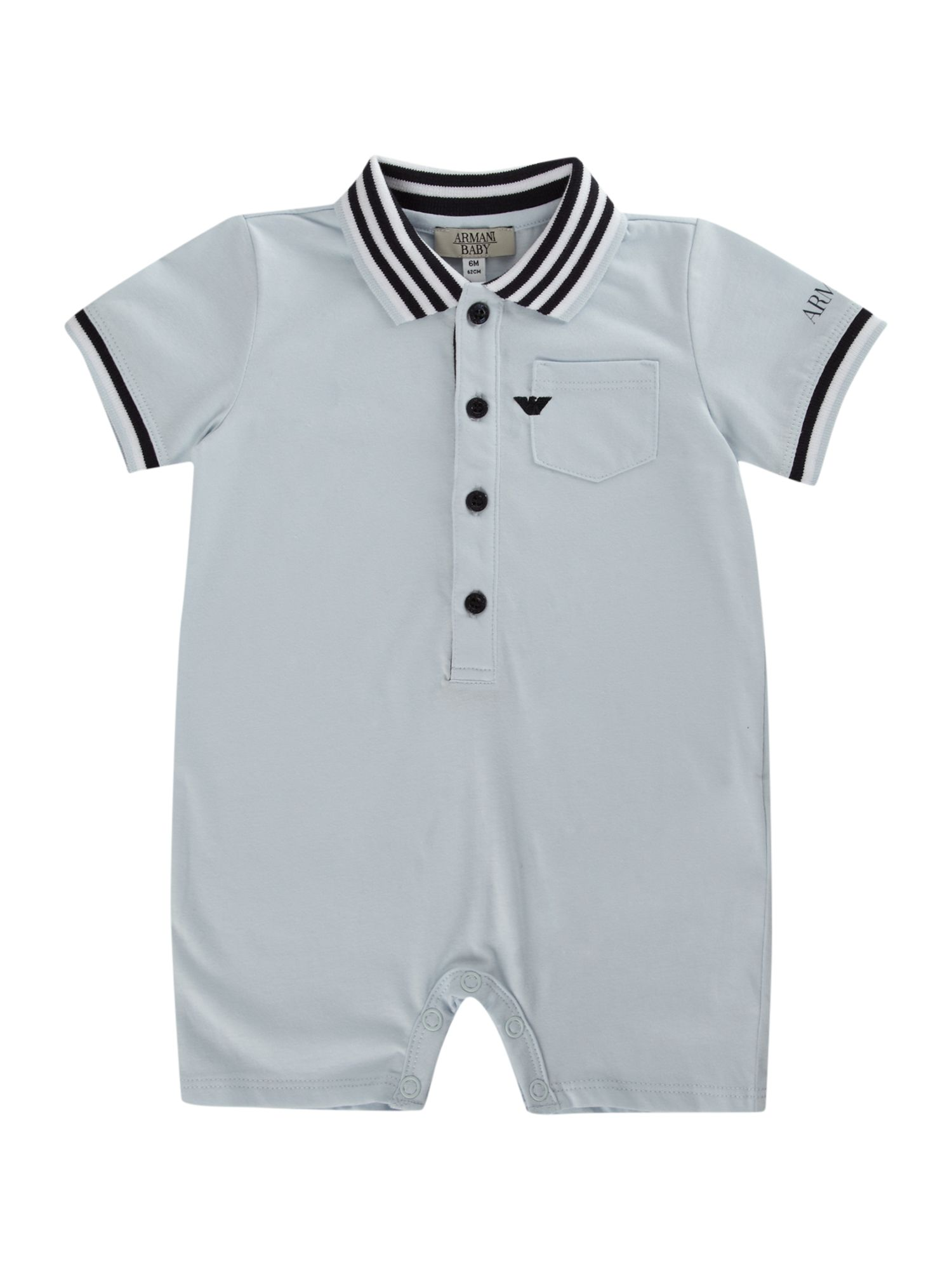 Baby boy`s polo footless all-in-one