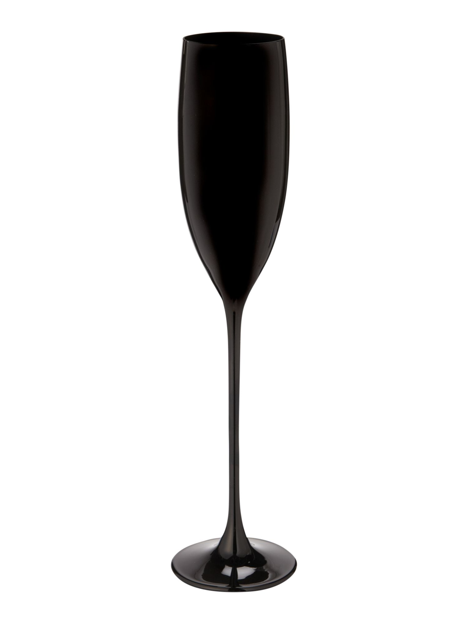 Ghost black champagne glass