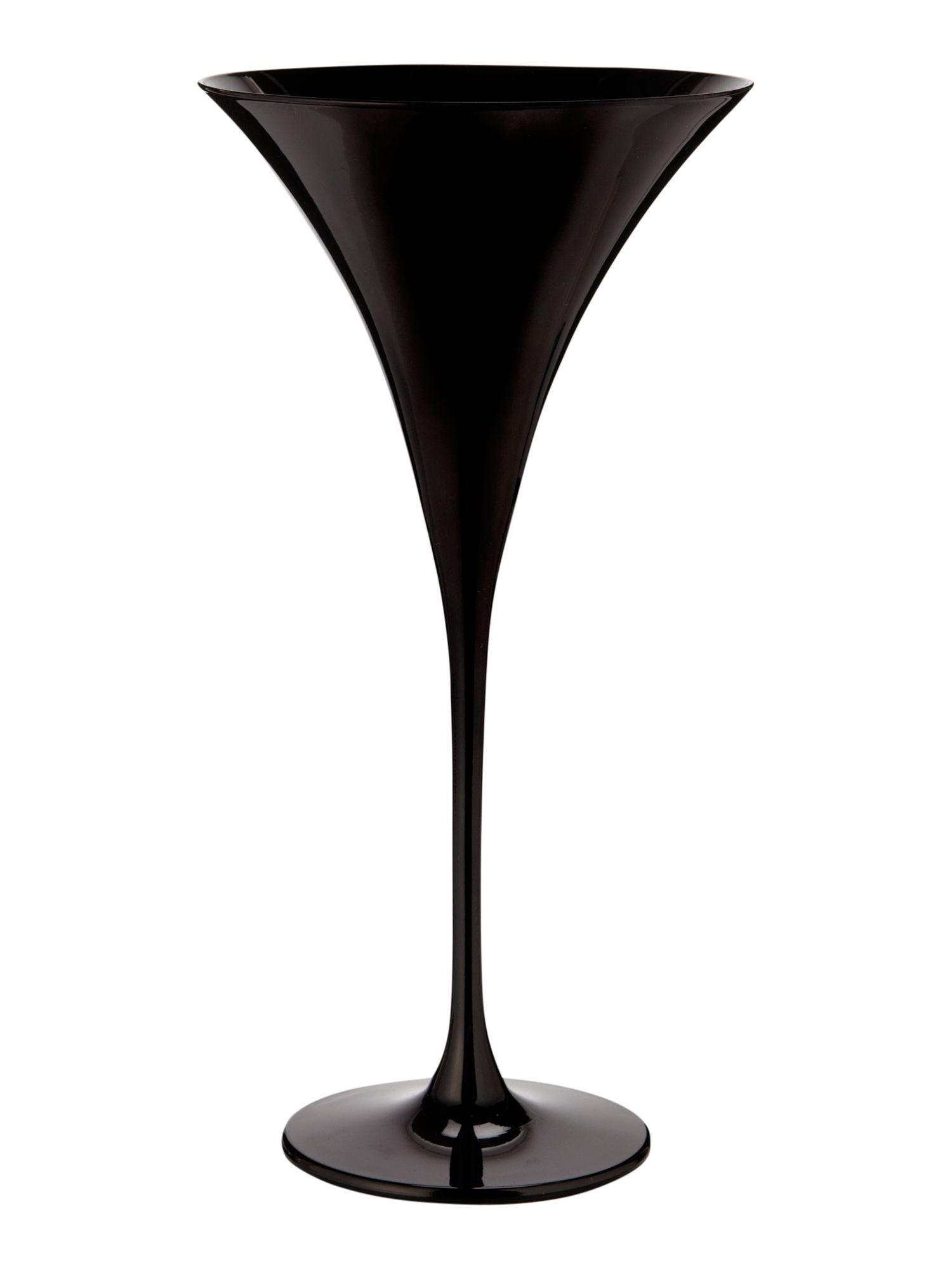 Ghost black martini glass