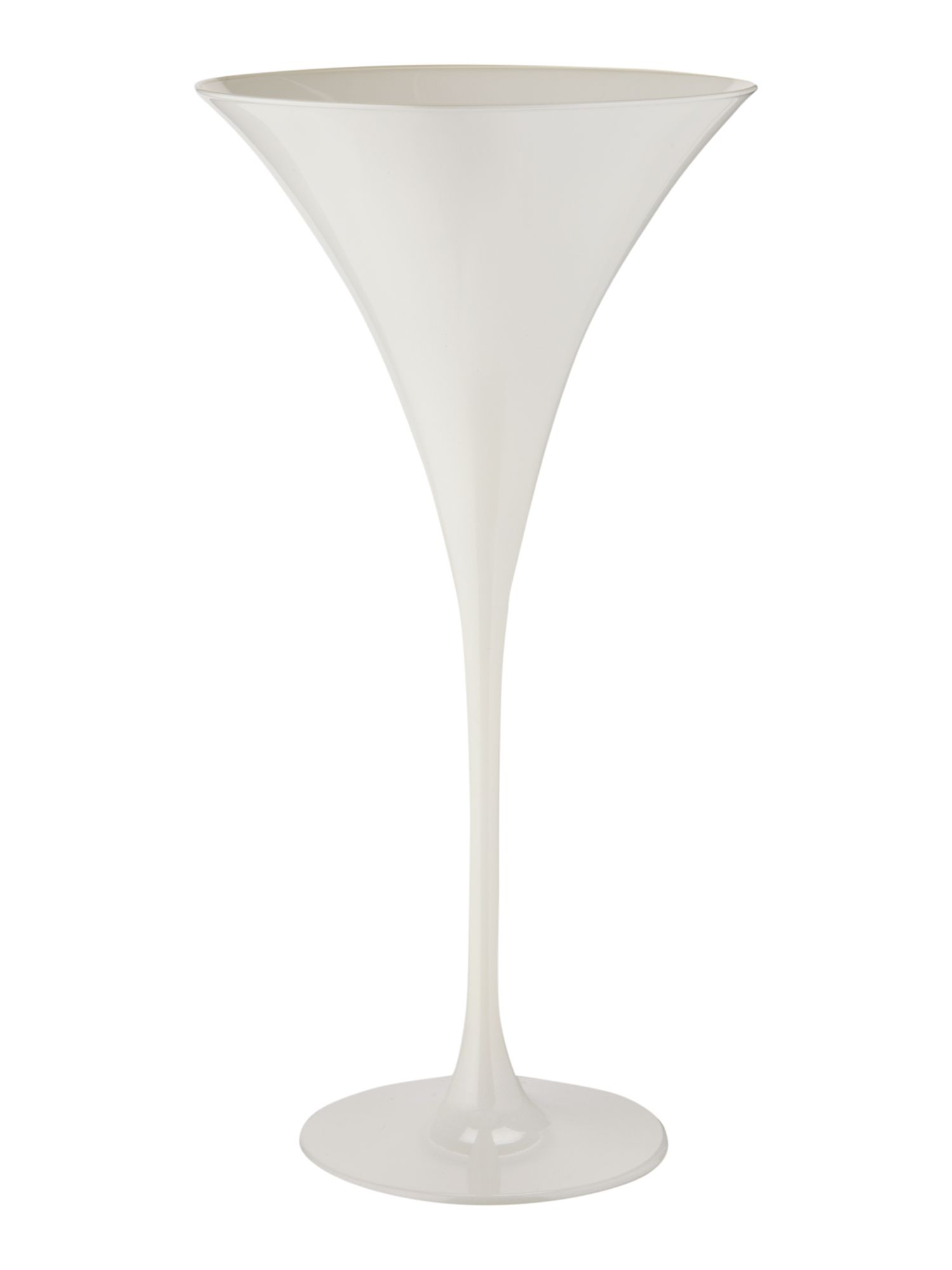 Ghost white martini glass