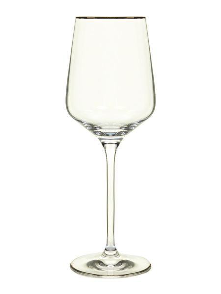 Casa Couture Platinum band red wine glasses box of 4