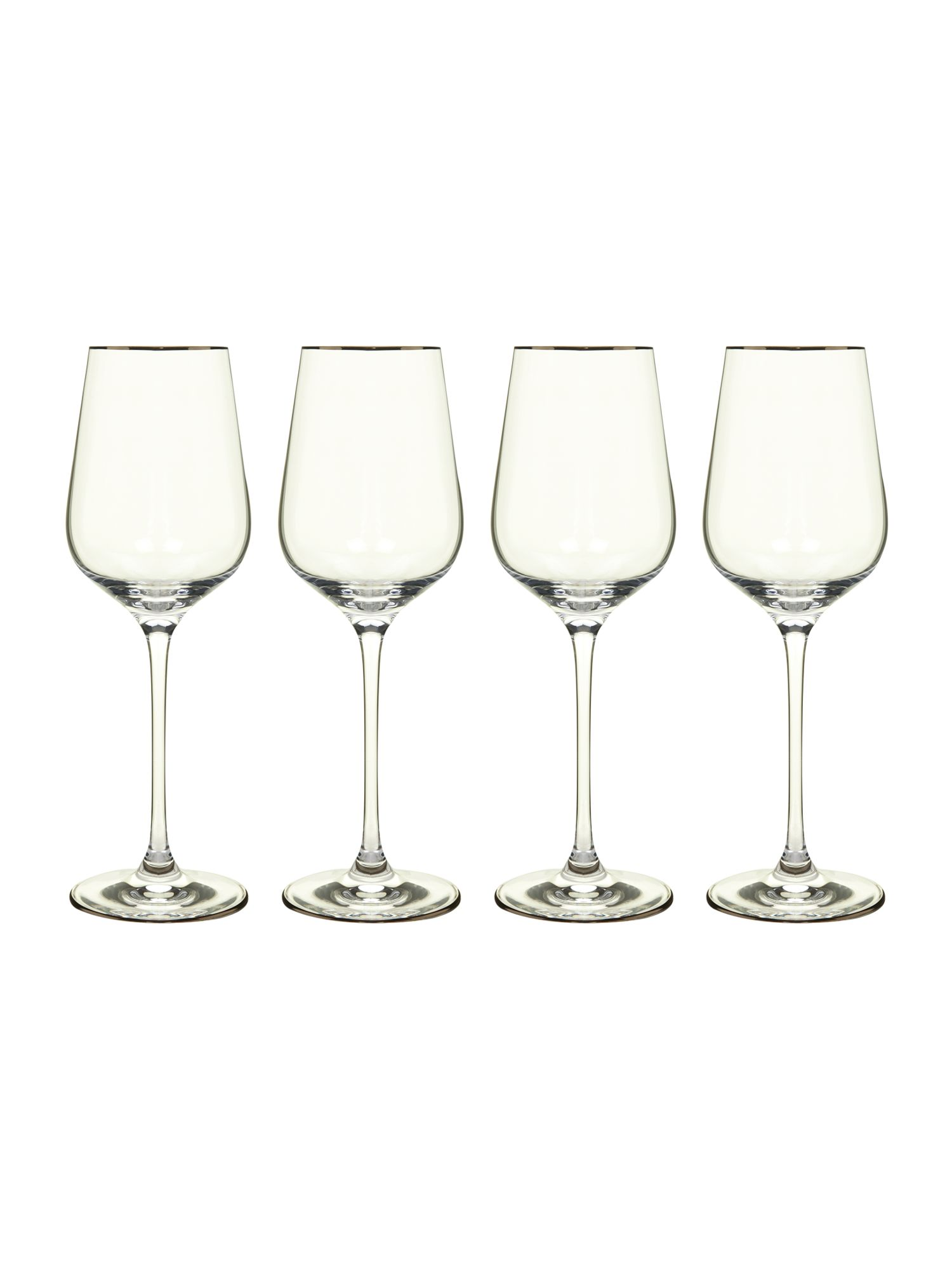 Platinum white wine set of 4