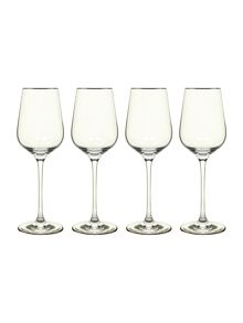 Casa Couture Platinum white wine glasses box of 4