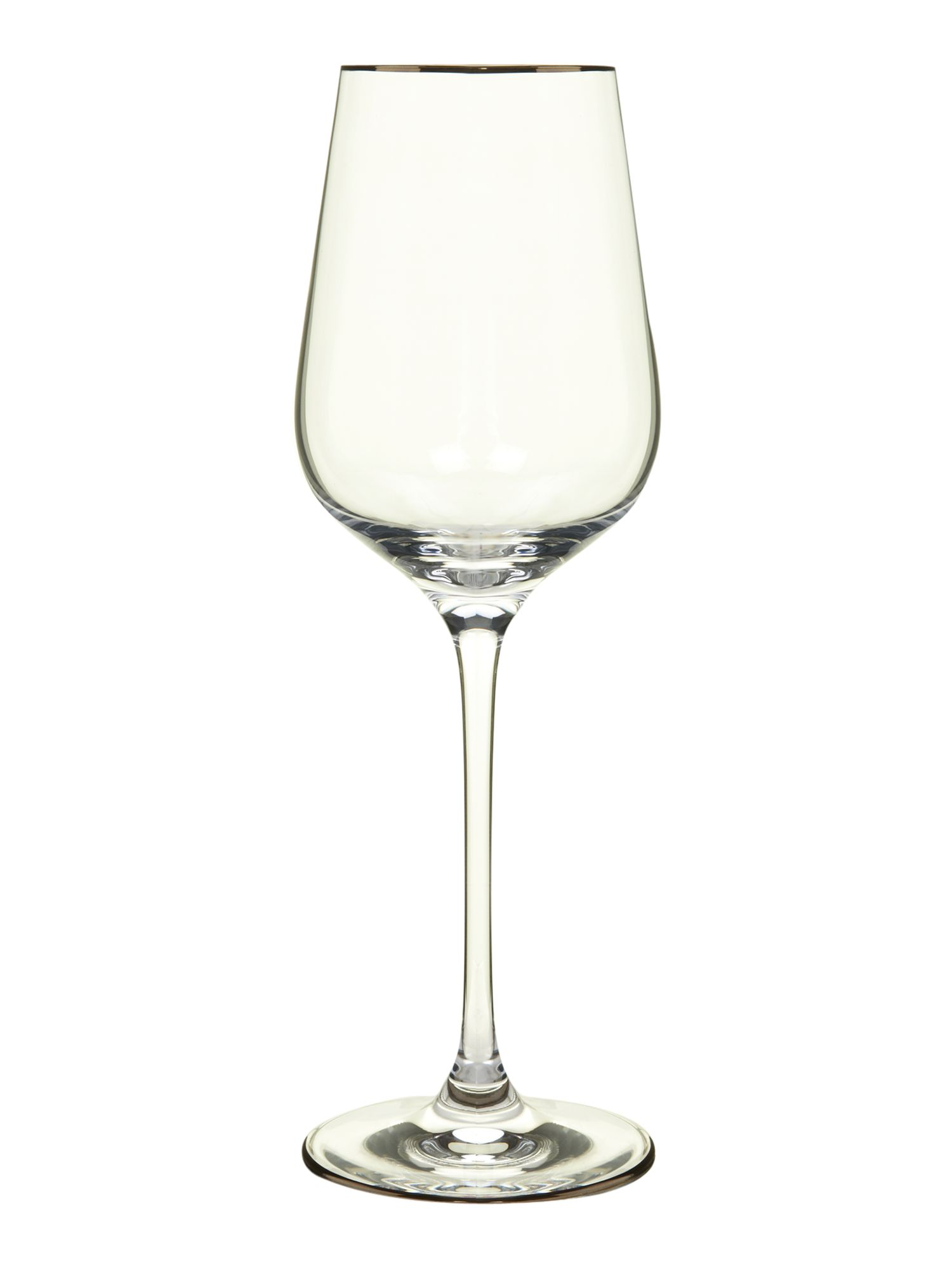 Platinum white wine glasses box of 4