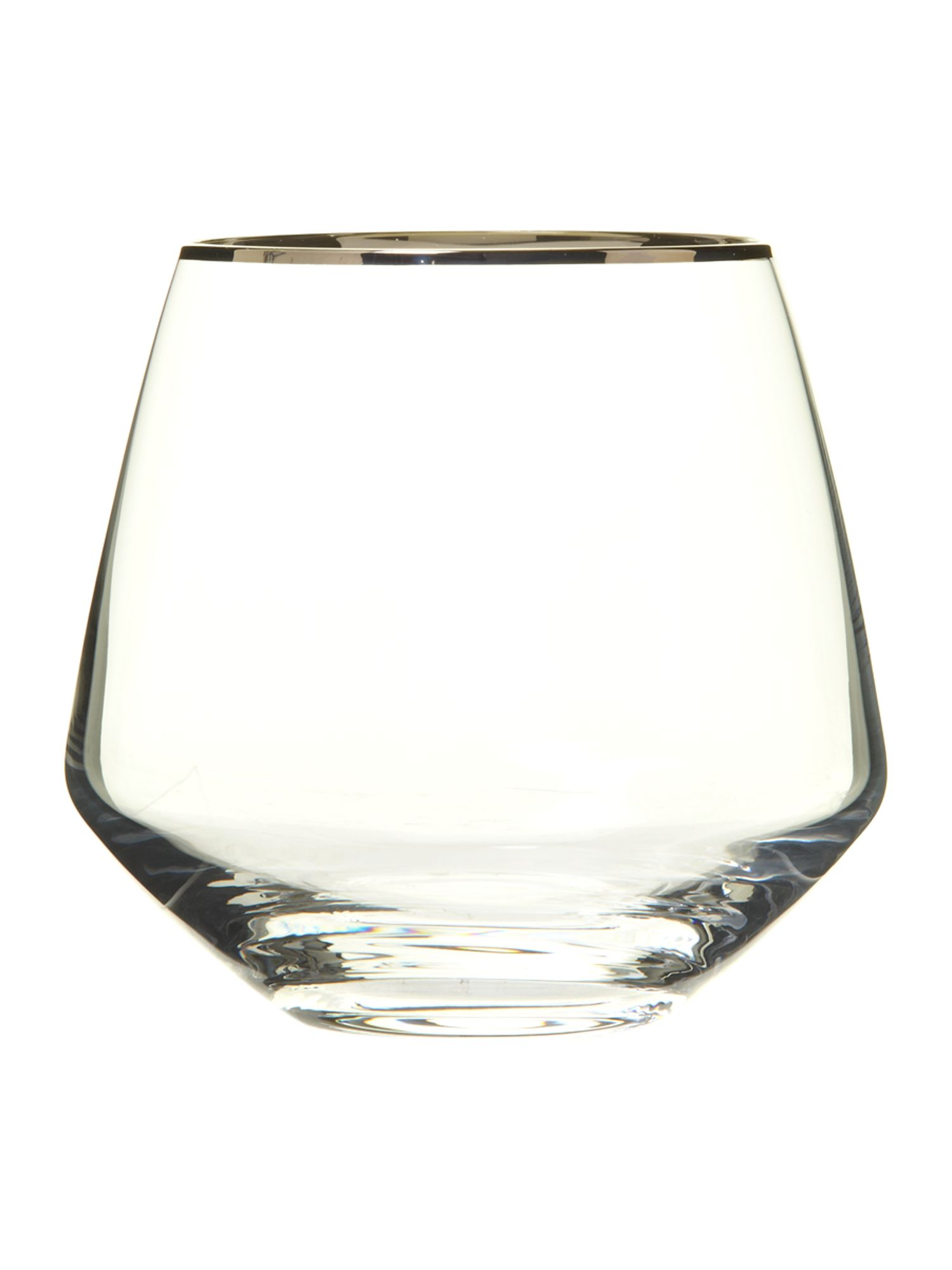 Platinum tumbler glasses box of 4