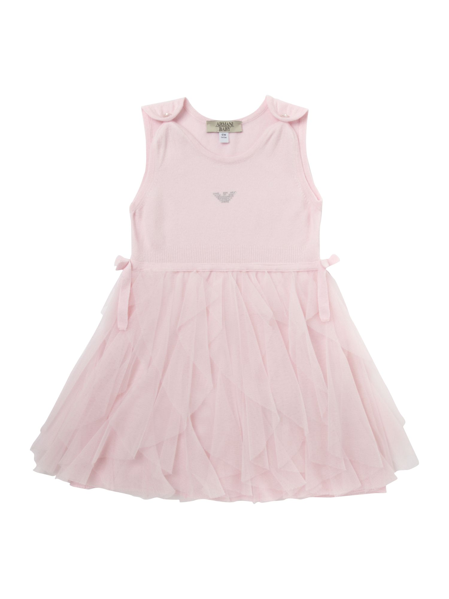 Girl`s tutu frill knitted dress