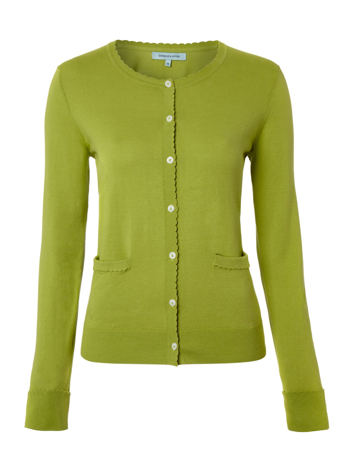 Ladies scallop edge knit cardigan