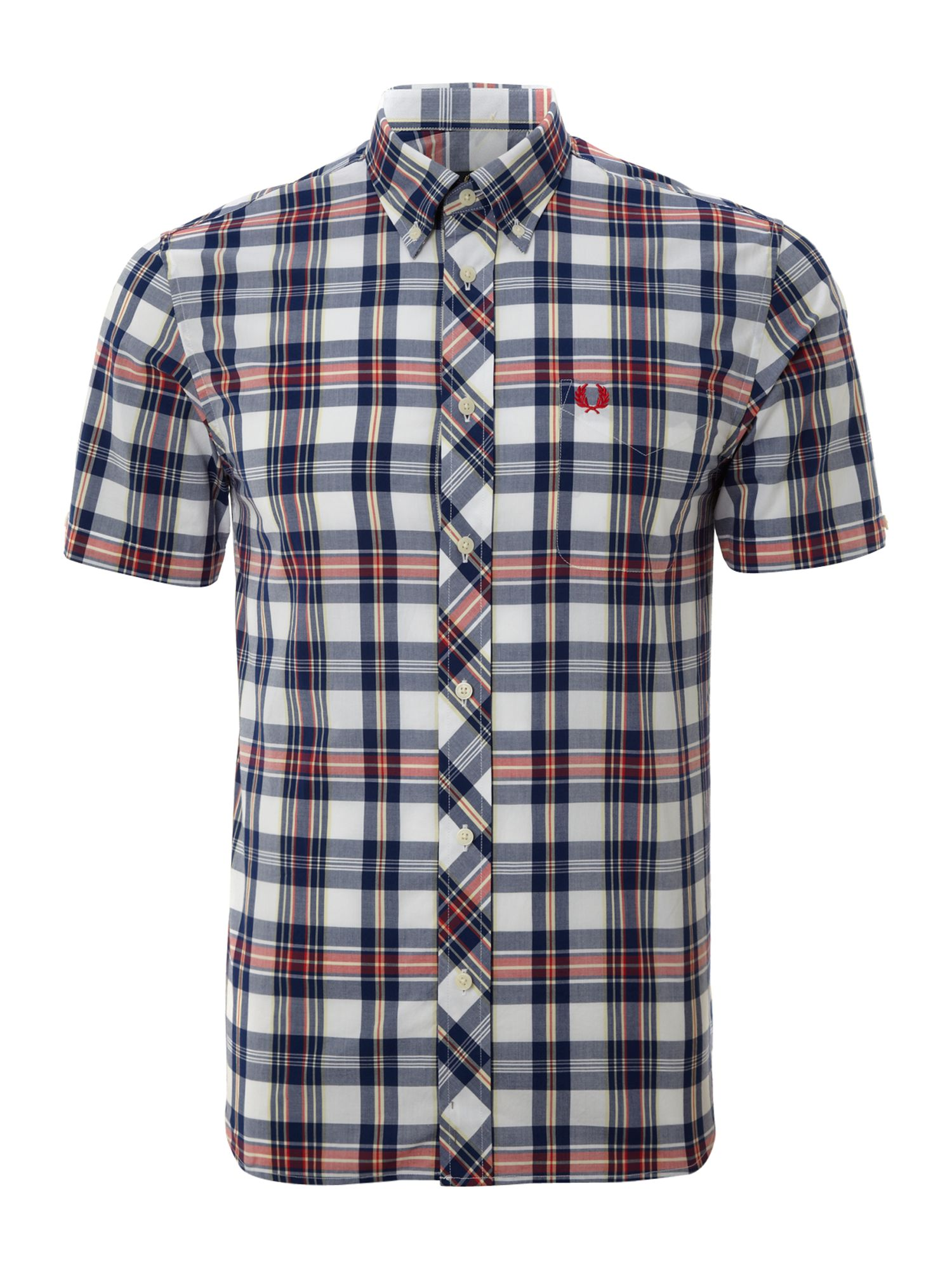 Short sleeved bold checked shirt