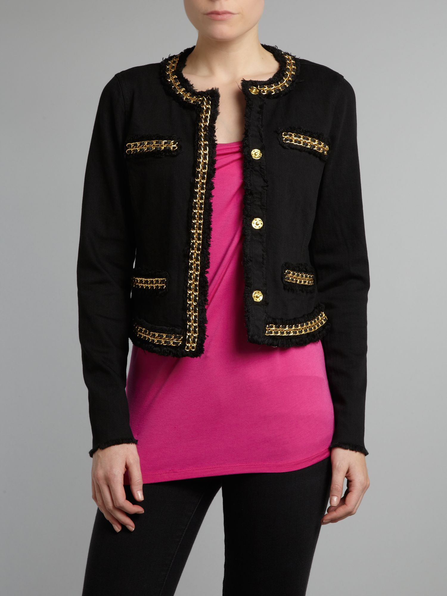 Long sleeved jacket with chain detail