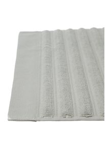 Luxury combed cotton bath mat in duck egg