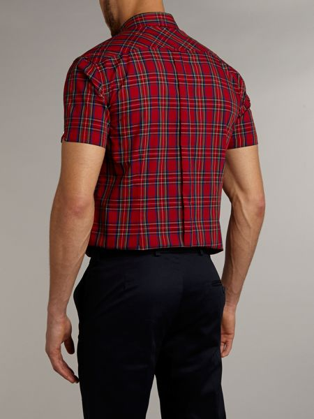 Merc Short sleeve tartan check shirt