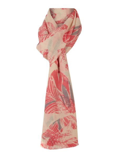 Lola Rose Feather heart print scarf
