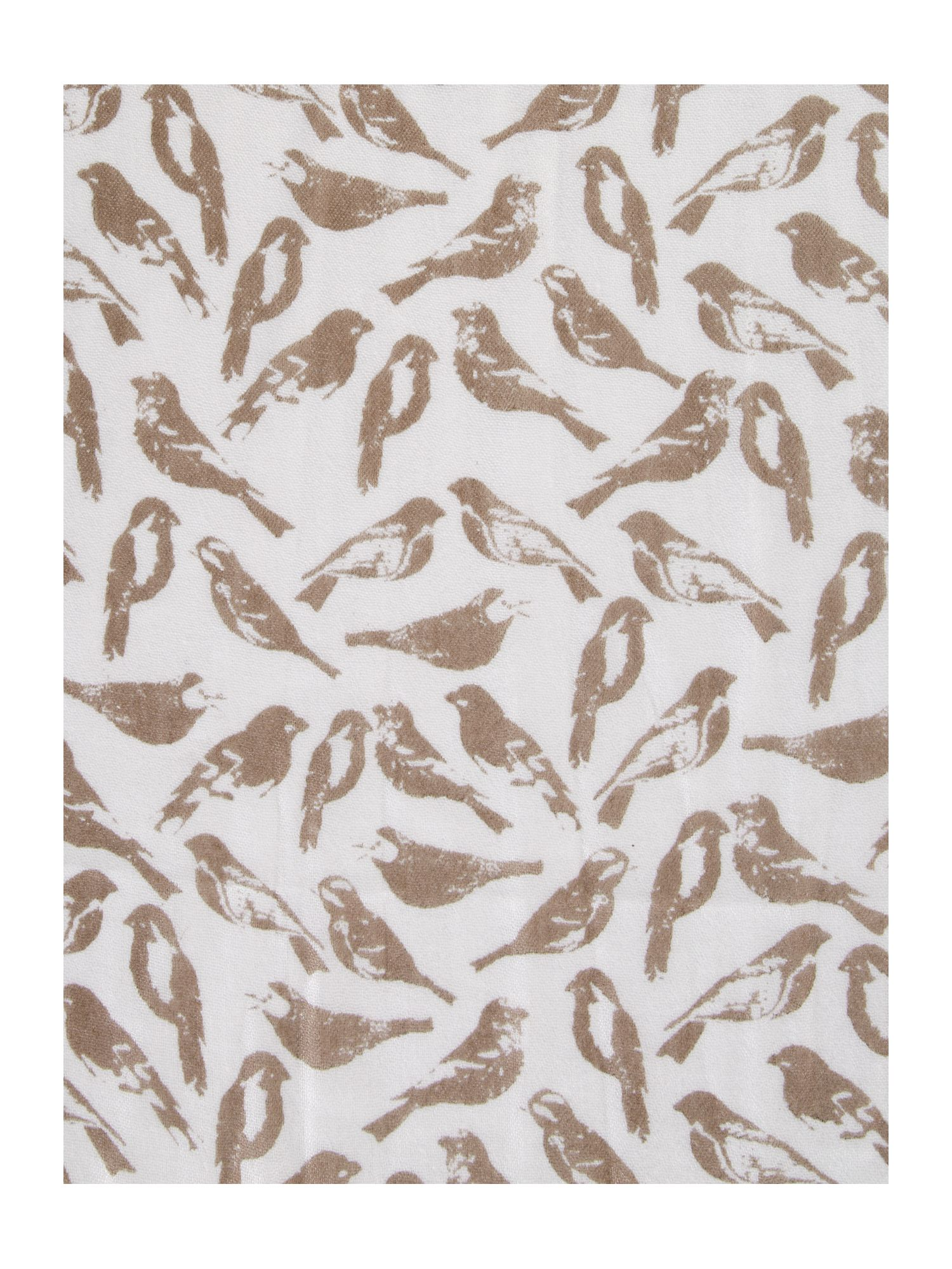 Scatter bird print lightweight scarf