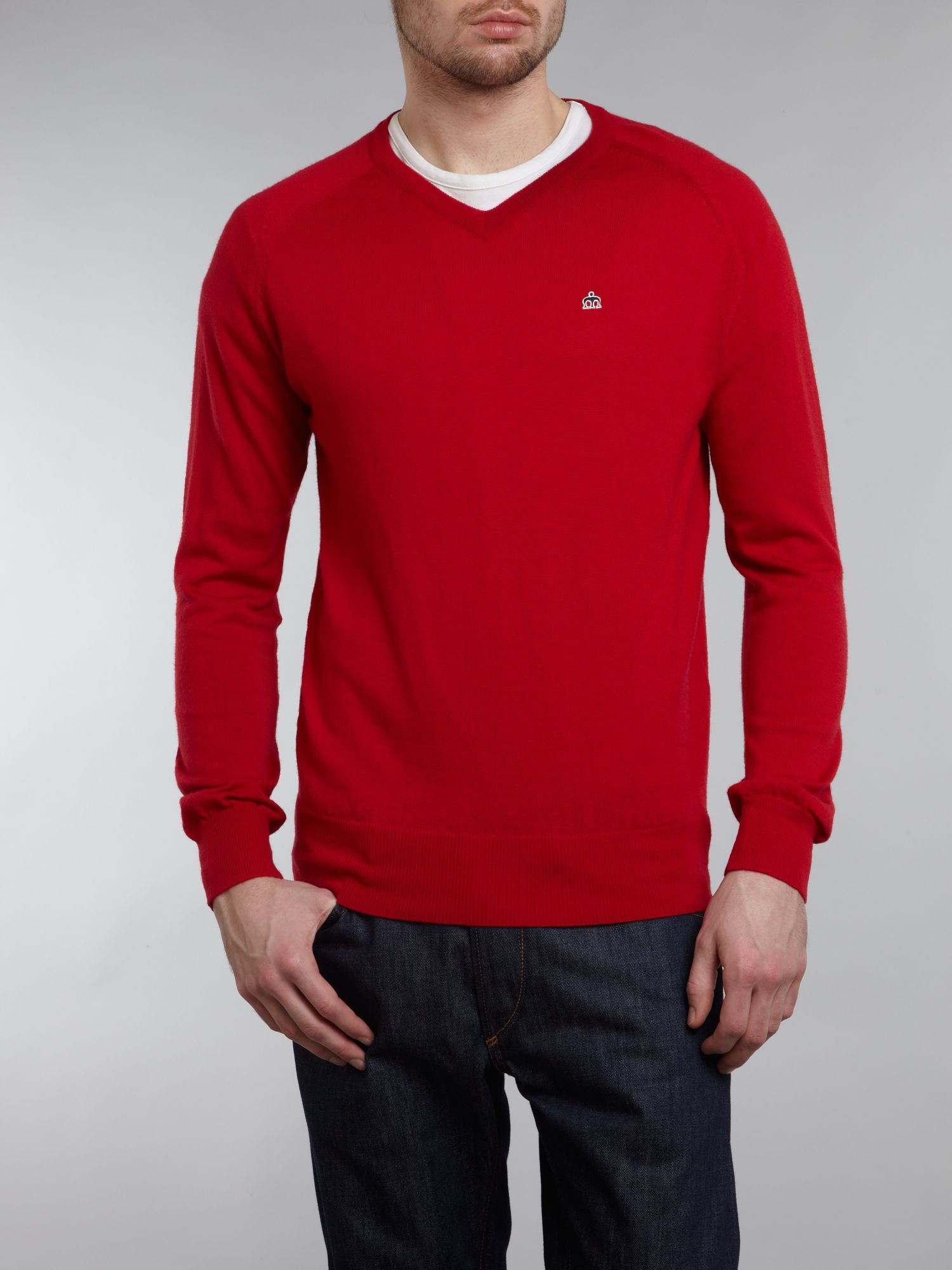 Knitted v neck jumper