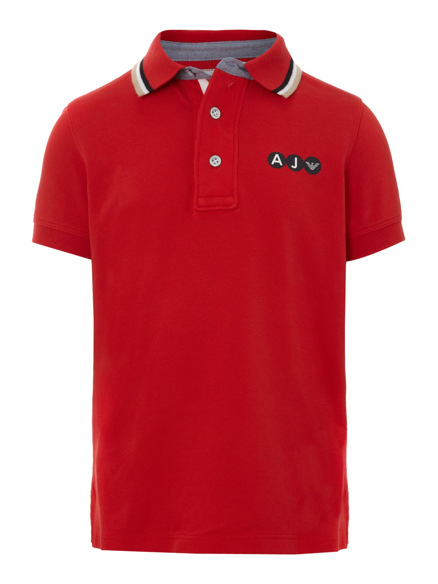 Boy`s short-sleeved contast tipped polo shirt