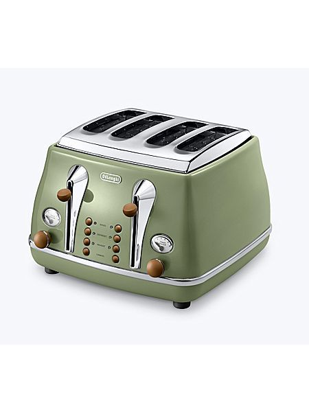 Vintage icona green 4 slice toaster