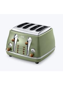 Delonghi Vintage icona green 4 slice toaster