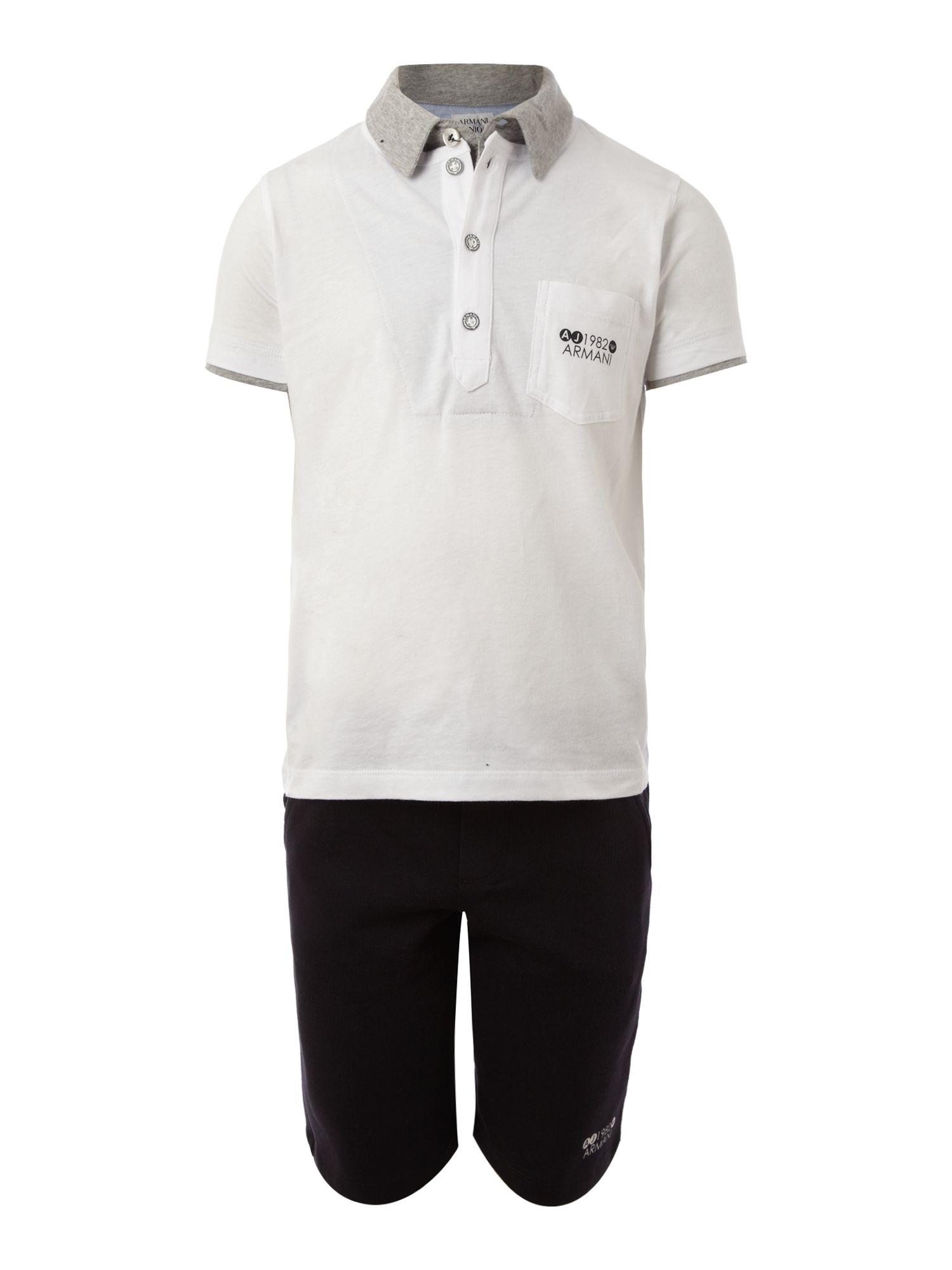 Boy`s logo polo shirt & shorts set