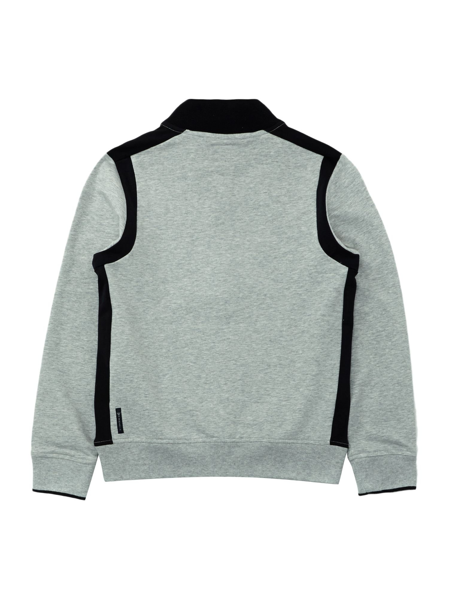 Boy`s logo zip-through funnel neck sweater