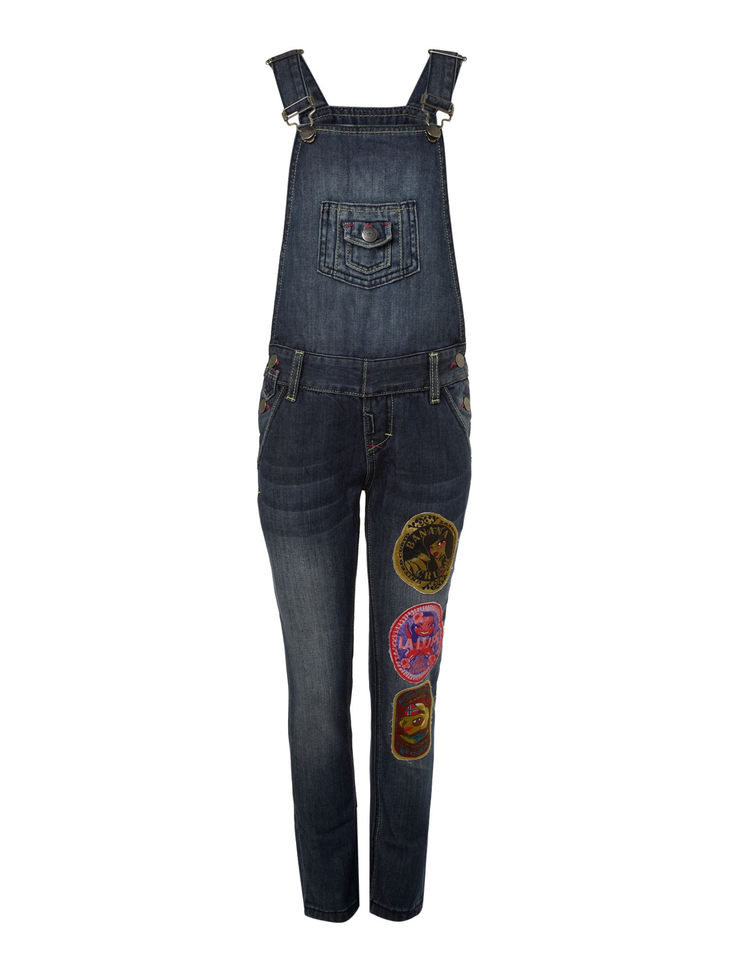 Girl`s spacy labels dungarees