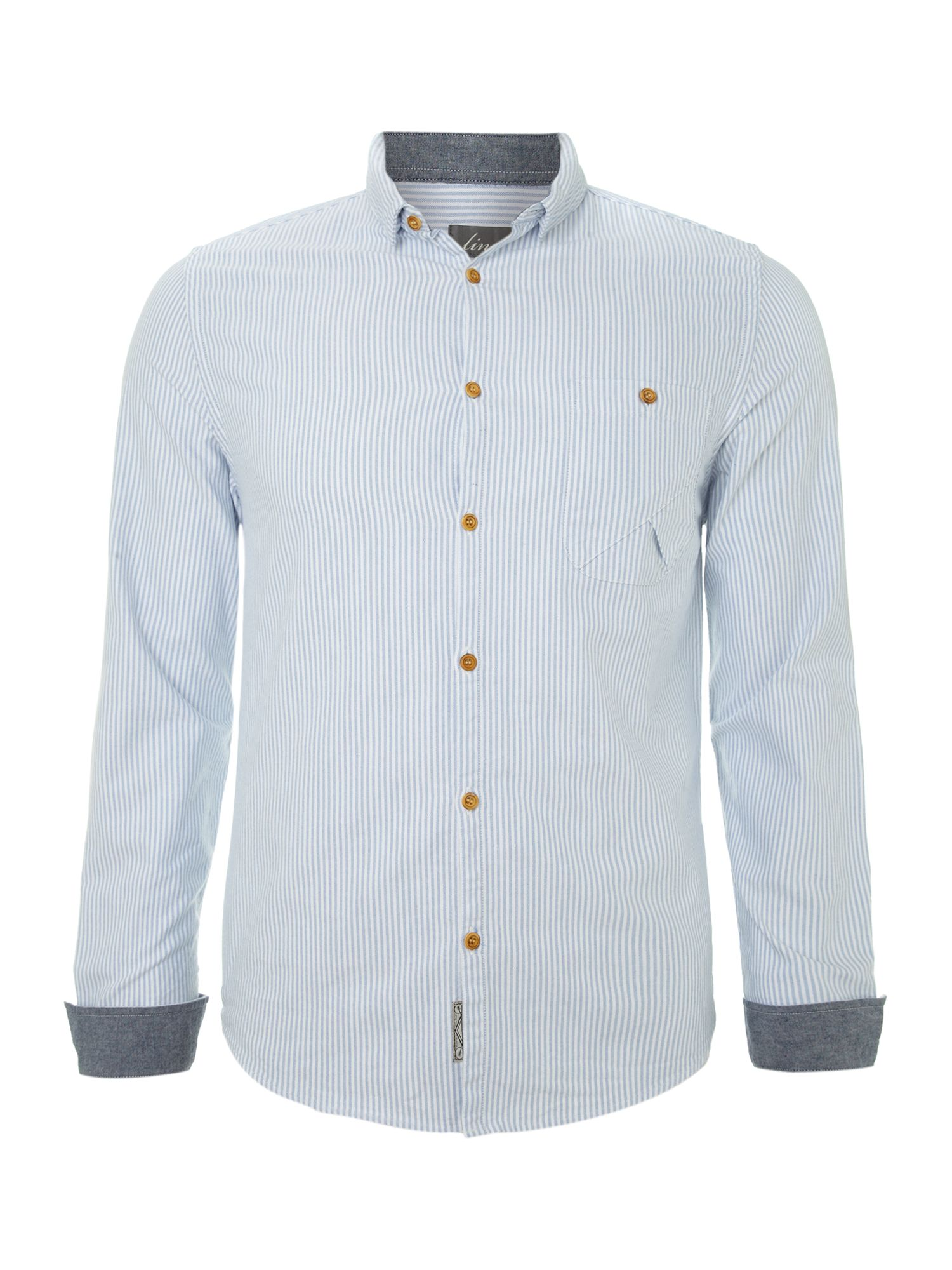 ticking stripe long sleeve shirt
