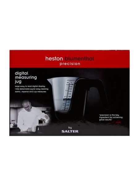 Salter Heston black measuring jug scale