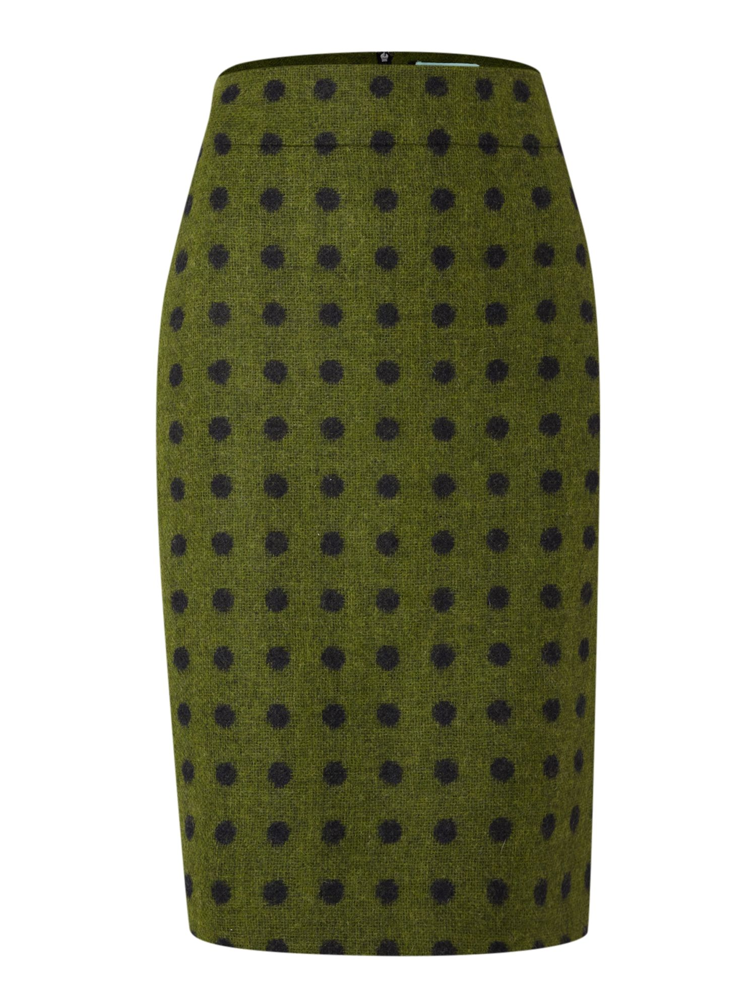 Ladies British Spot Pencil Skirt