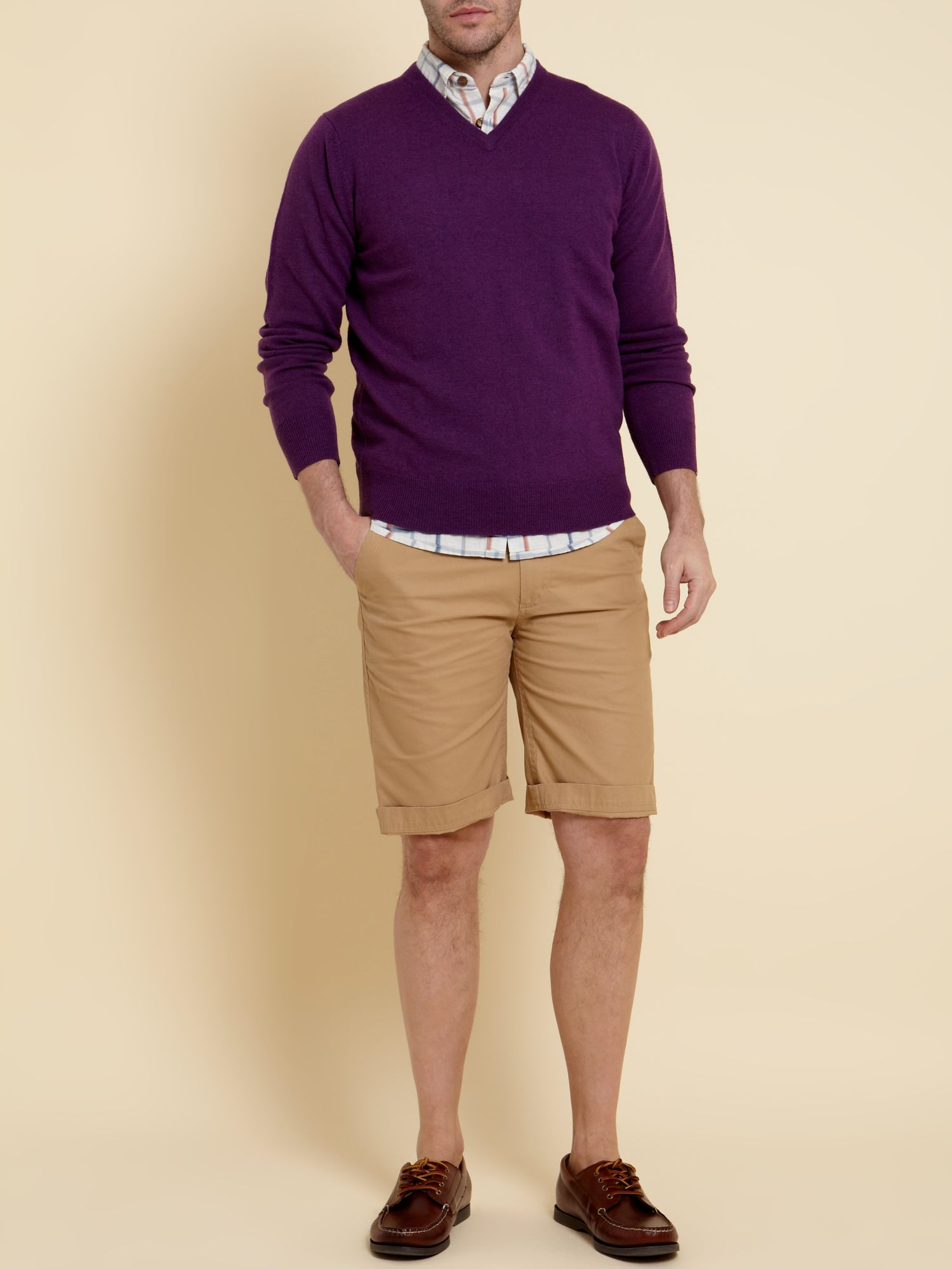The arlington lambswool V-neck jumper