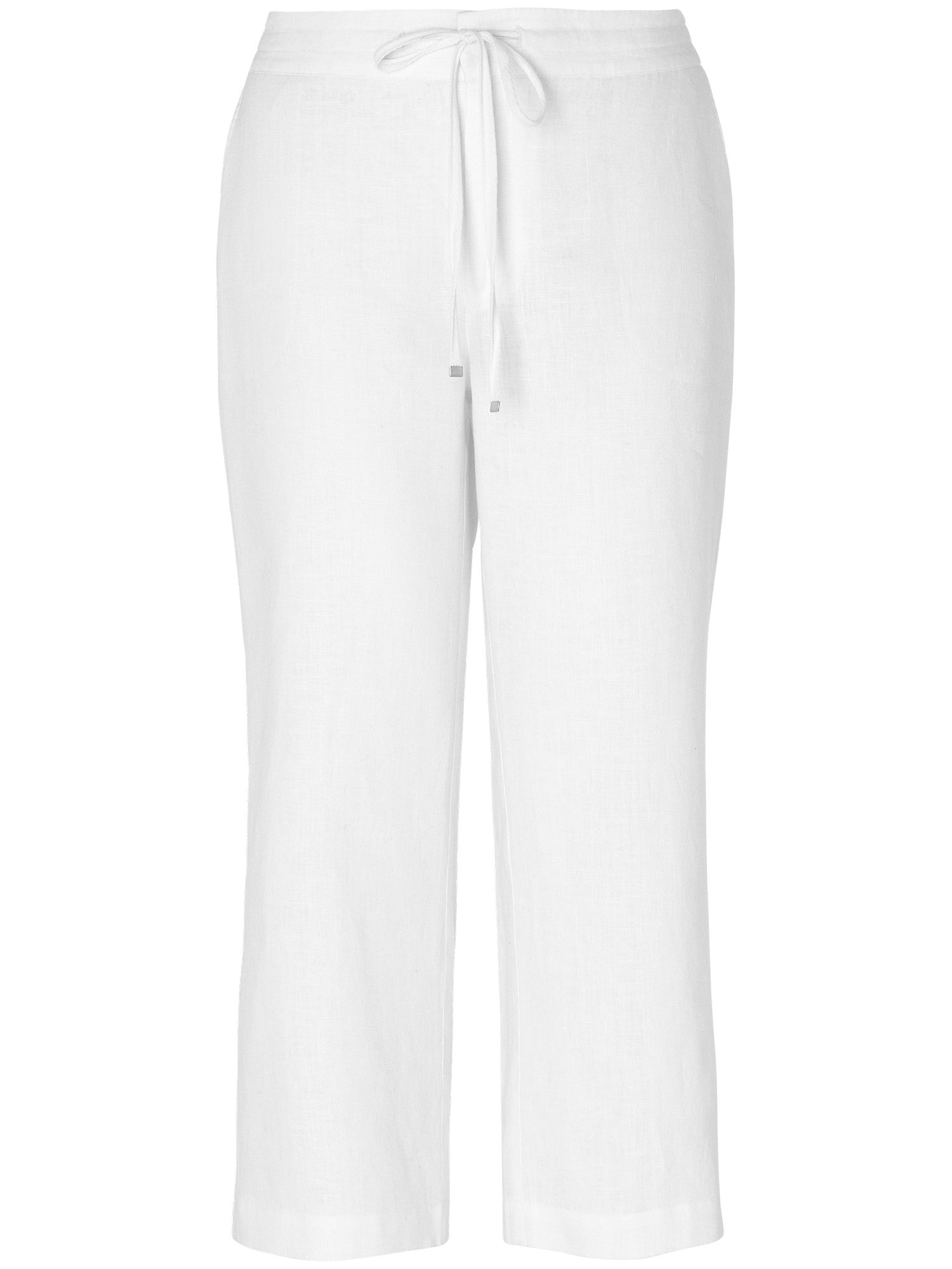 Elena cropped linen trousers