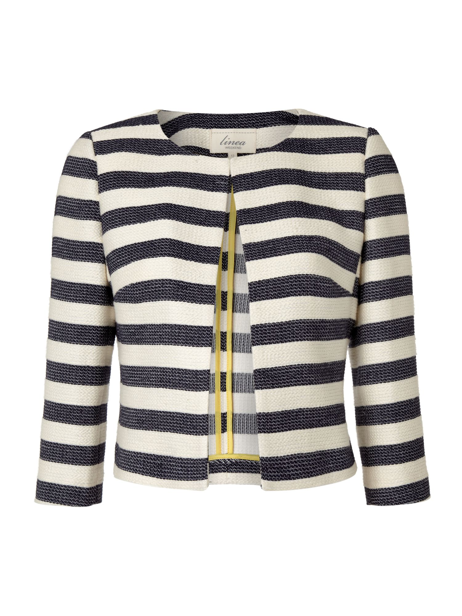Ladies Striped Boxy Jacket