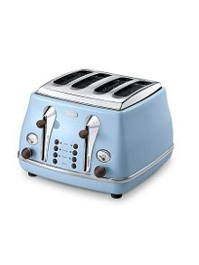 Vintage Icona blue 4 slice toaster