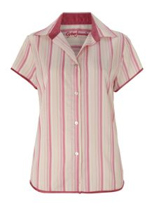 Cyberjammies Vintage stripe short sleeve pj top