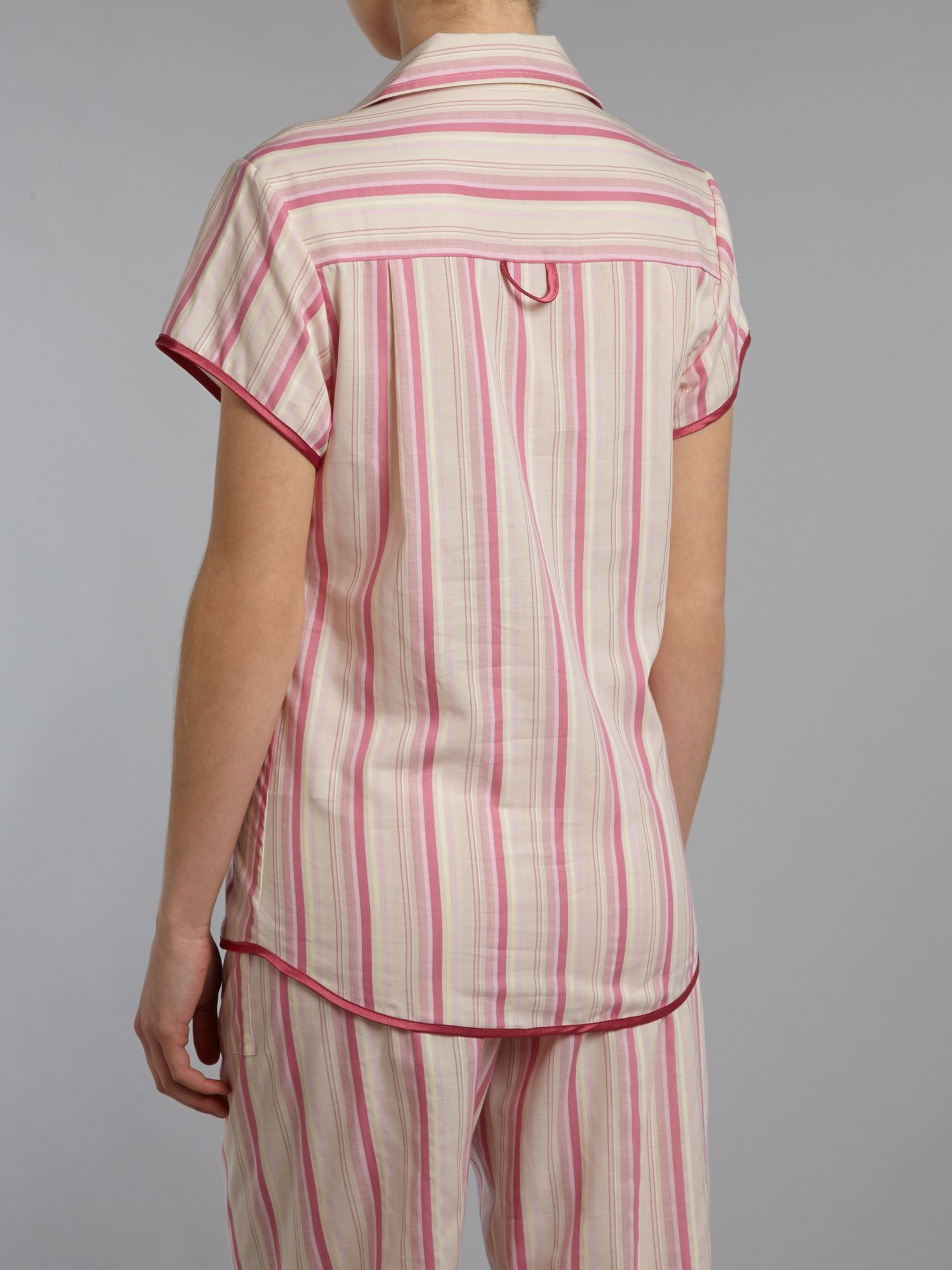 Vintage stripe short sleeve pj top