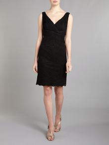 JS Collections Lace skirt detail dress