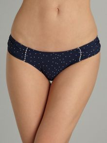 Seafolly Harlow polka dot ruched side brief