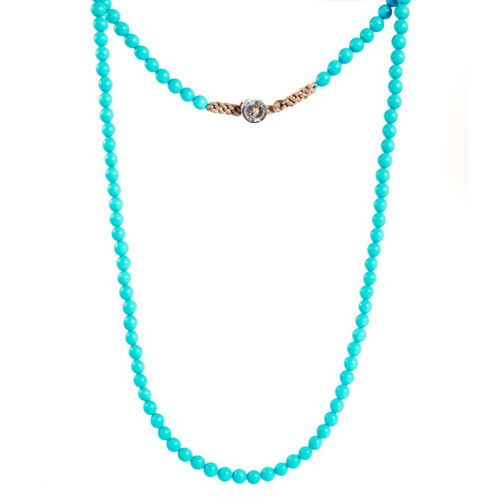 Turquoise Gemstone Lariat Necklace