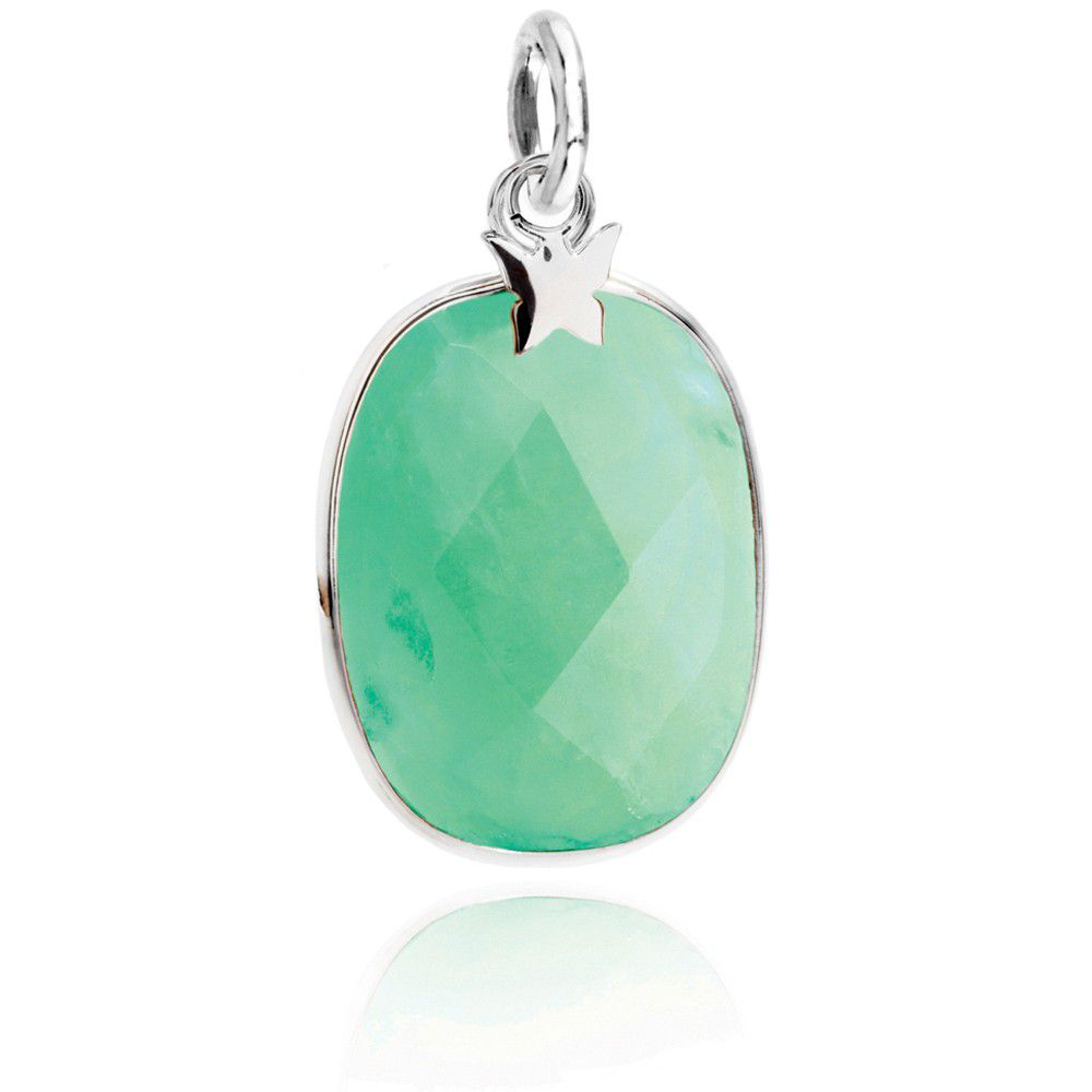 Silver And Amazonite Gemstone Pendant
