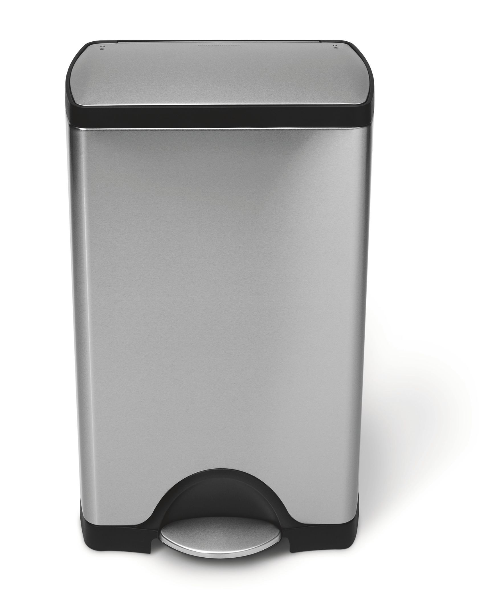 Rectangular step can bin