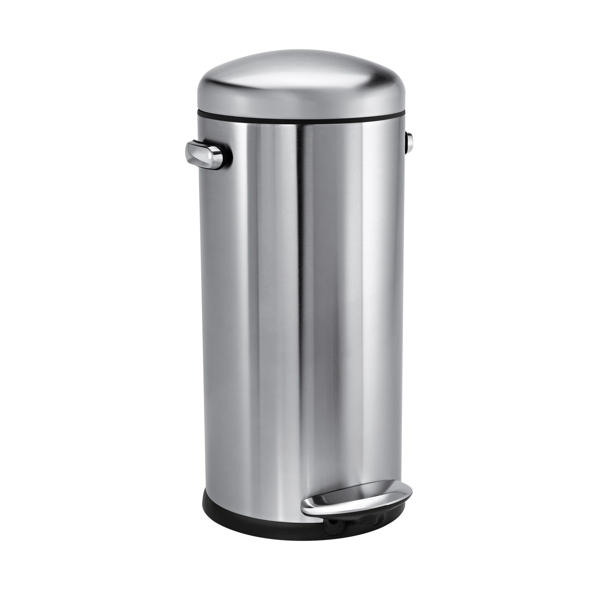 Round retro bin, chrome