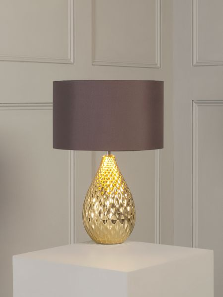 Living by Christiane Lemieux Gold faceted table lamp