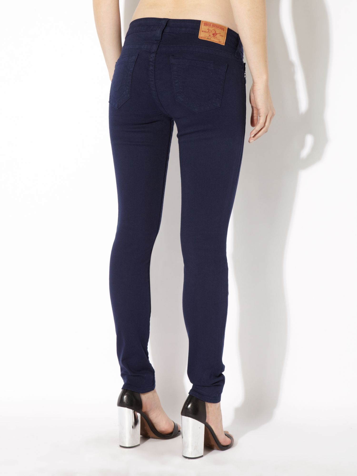 Halle skinny jeggings in Navy