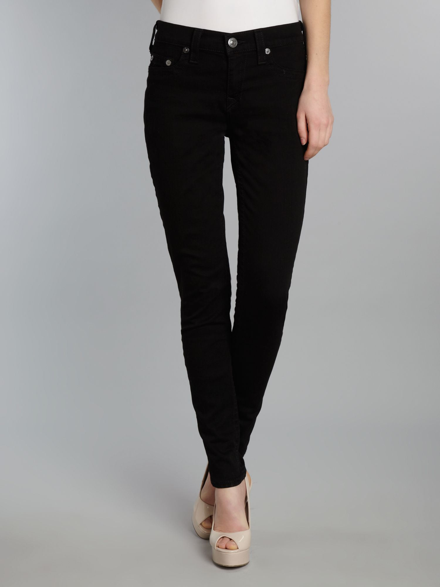 Halle skinny jeggings in Black
