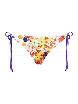 Flower pop tie side brief