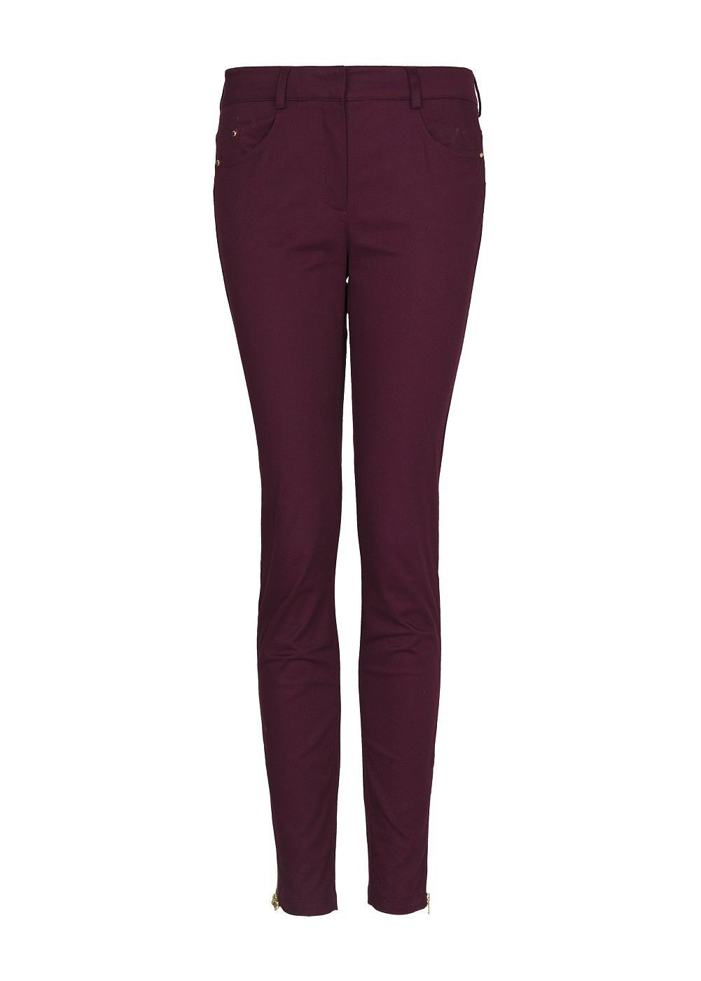 Cropped super slim fit trousers