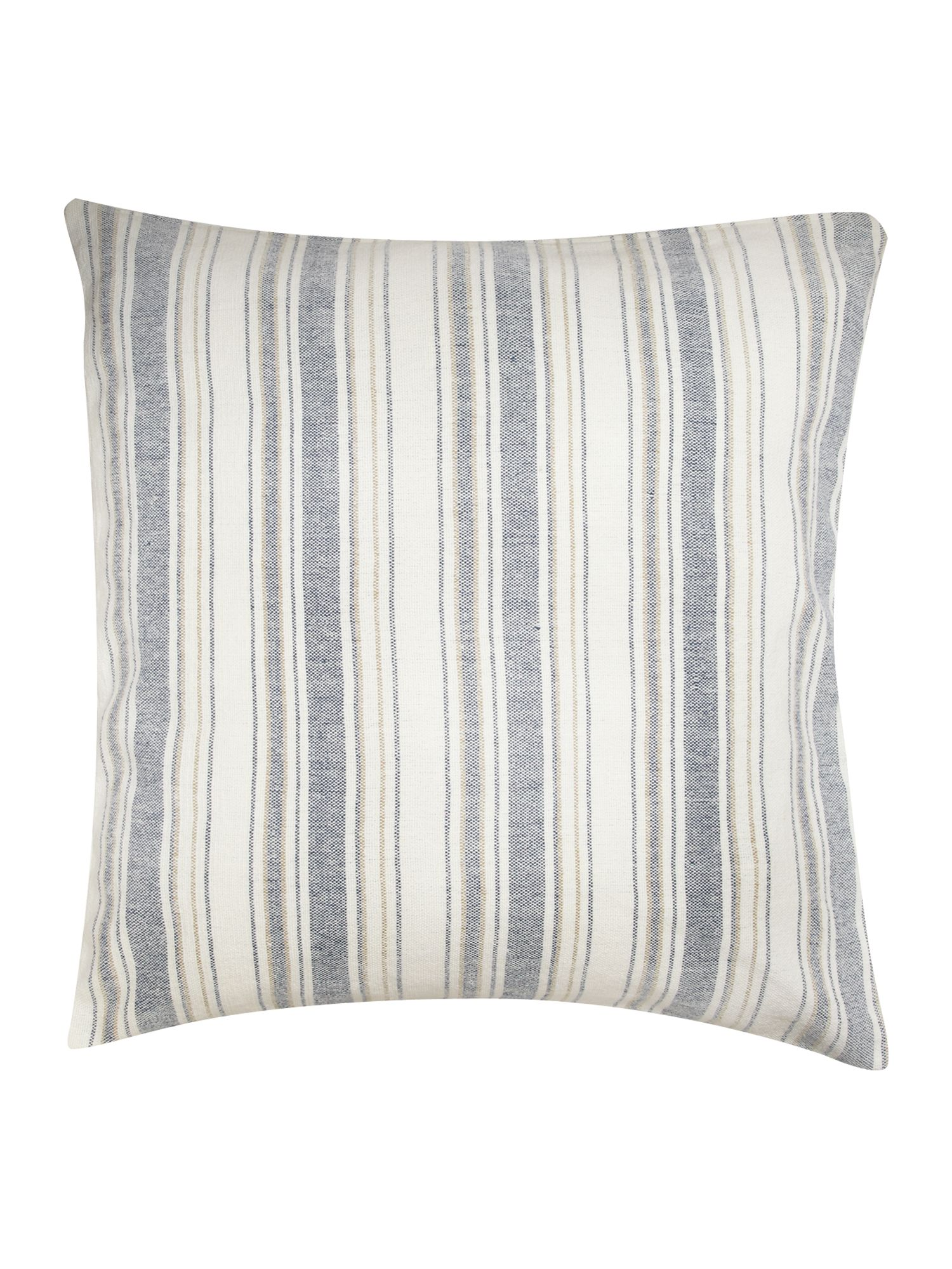 Blue oversized stripe cushion