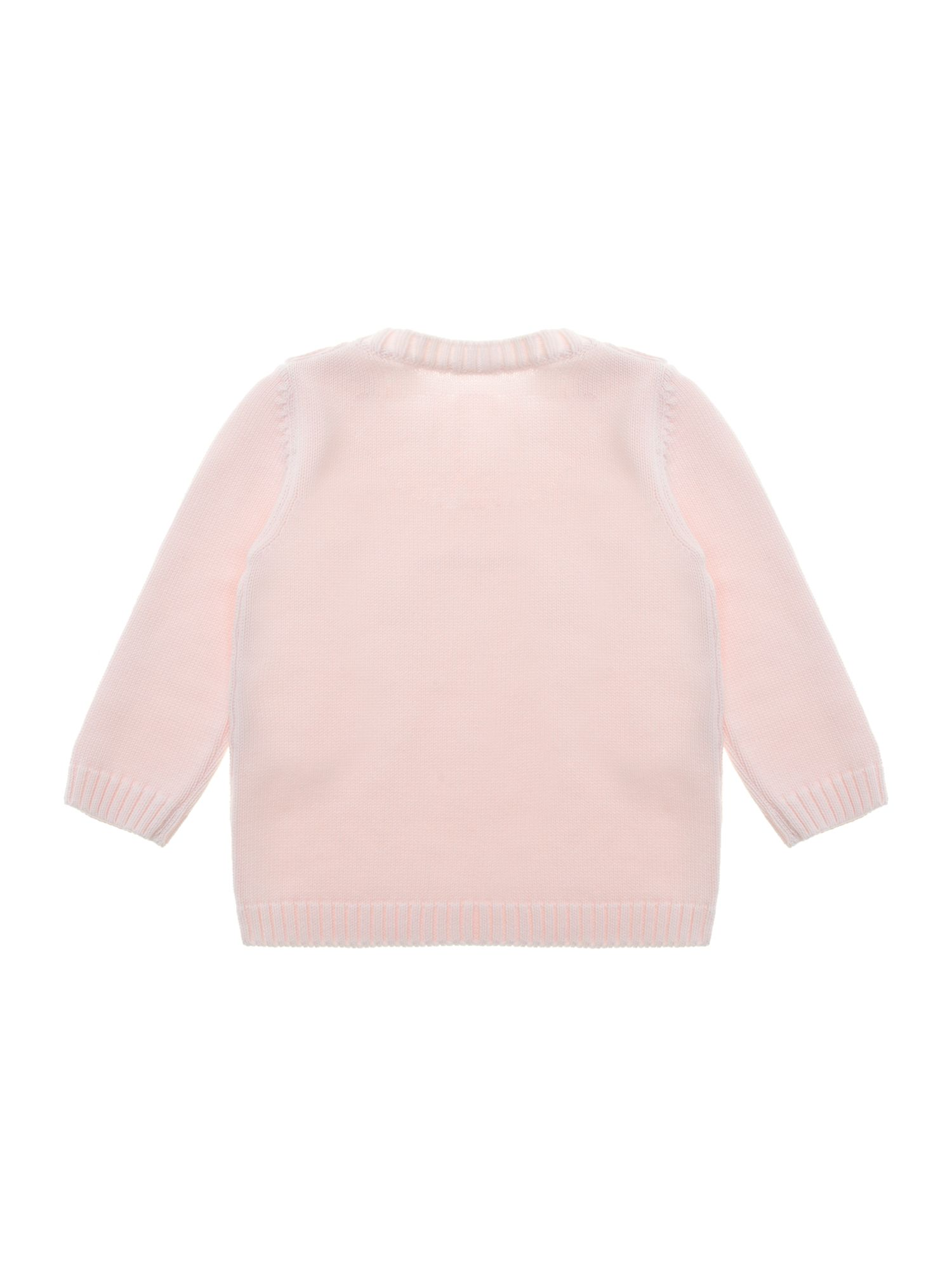 Girl`s crew neck logo jumper